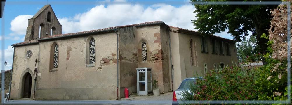 La Pomarède l`église St-Christophe